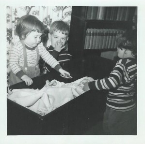 Patty as a baby with siblings